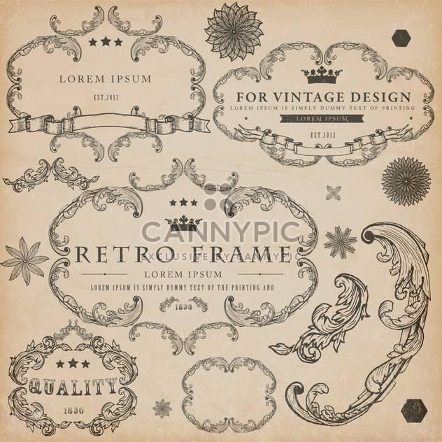 Vintage-Design-Elemente festlegen - Free vector #134298