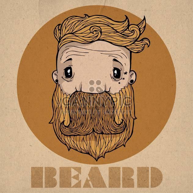 beard hipster icon illustration - Free vector #134308