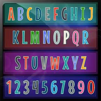 artistic font alphabet set - Free vector #134328