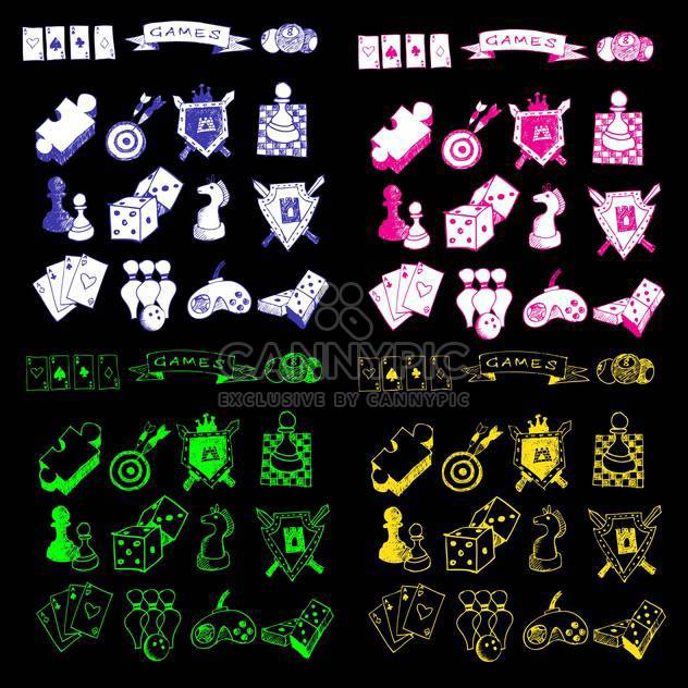 game icons sketch set - Free vector #134338