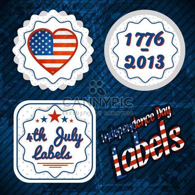 USA-Unabhängigkeitstag-Etiketten - Kostenloses vector #134348