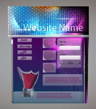 website template abstract background - Free vector #134358