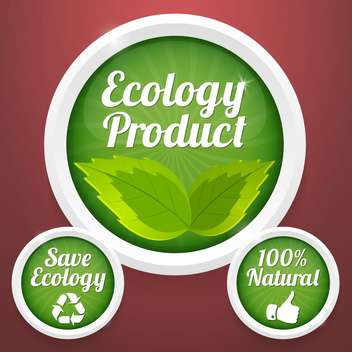 ecology product labels background - Free vector #134428