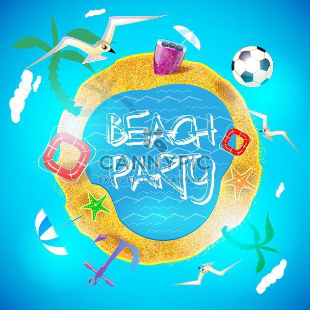 summer holiday vacation background - Free vector #134478