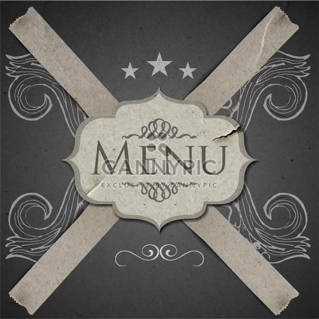 Grunge Vektor Vorlage für Menü-restaurant - Kostenloses vector #134568