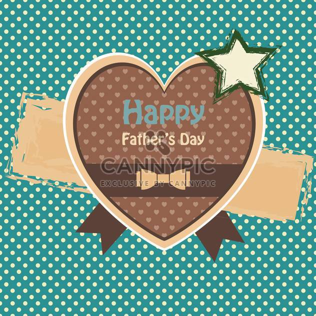 happy fathers day vintage card - Free vector #134648