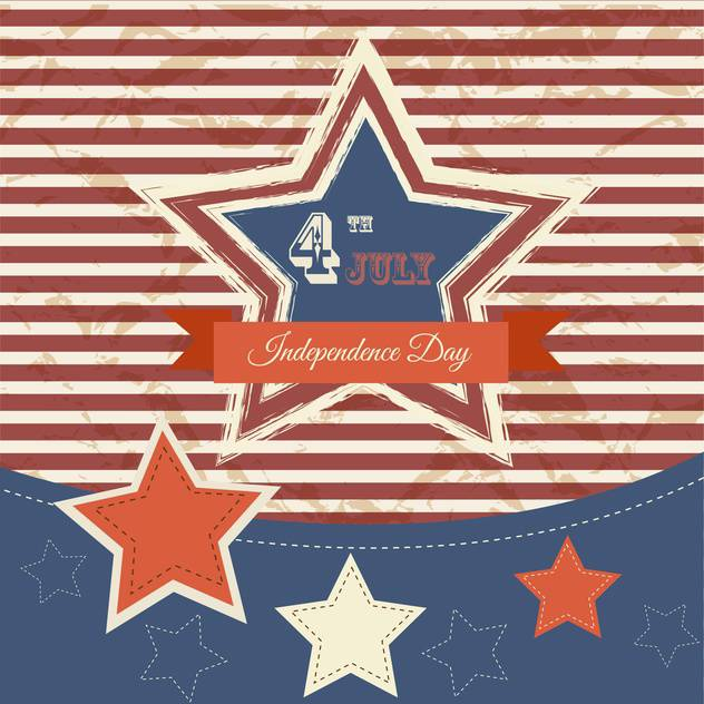 vintage vector independence day poster - vector gratuit #134658