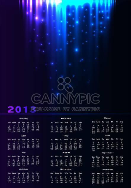 Jahr Kalender Vektor Hintergrund - Kostenloses vector #134698