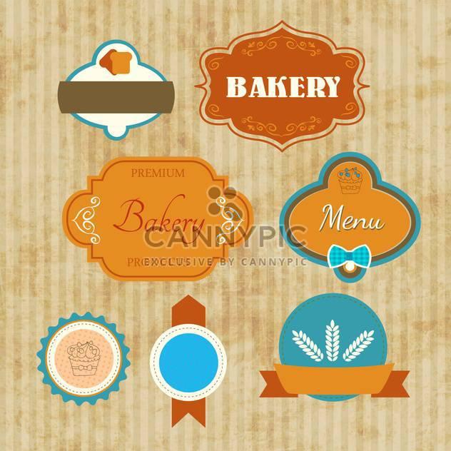 bakery labels vector set - Free vector #134728