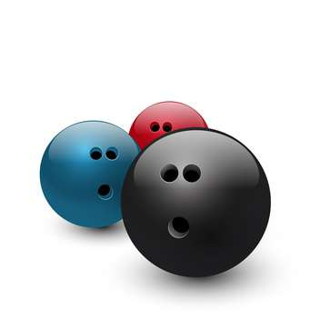 bowling balls vector illustration - vector gratuit #134798