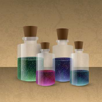 laboratory glassware with colored liquid - Kostenloses vector #134808