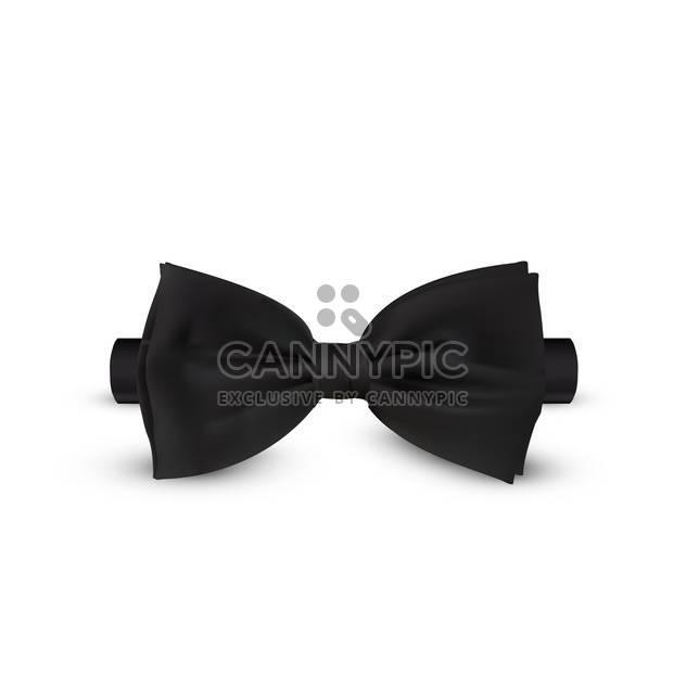 elegant black bow-tie illustration - Free vector #134858