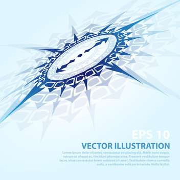 vector background with blue compass - vector gratuit #134908