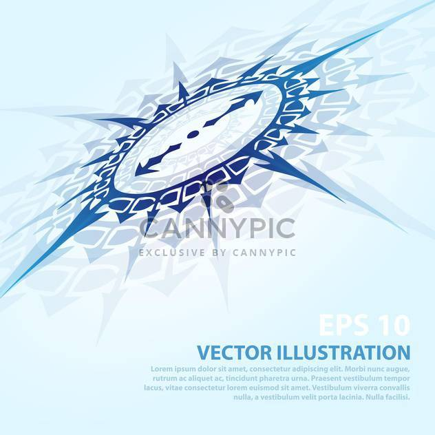 vector background with blue compass - Free vector #134908