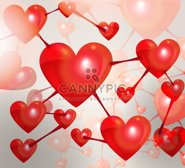 valentines day holiday background with hearts - Free vector #134928