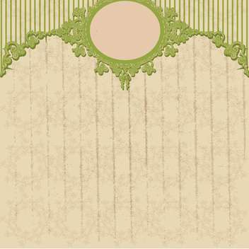 vintage floral frame vector illustration - Free vector #134978