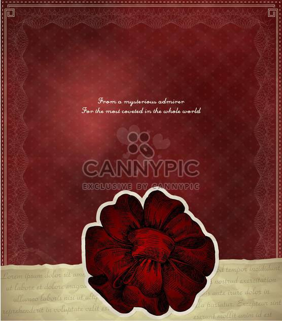 vector vintage background with red bow - Free vector #135198