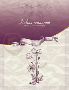 restaurant menu design in retro style - vector #135218 gratis