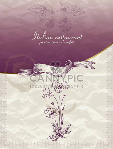 restaurant menu design in retro style - Free vector #135218