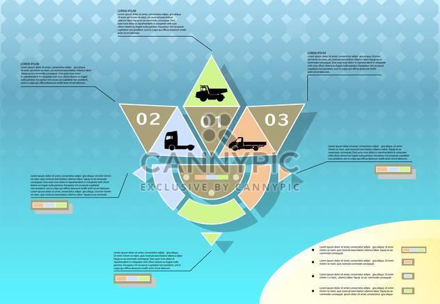 abstrakte Verkehrskonzept Vektor Infographik - Kostenloses vector #135228