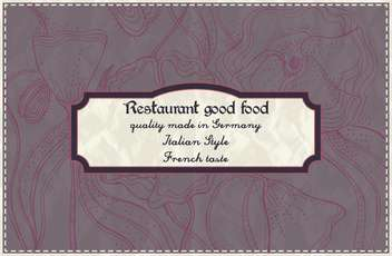 restaurant menu design in retro style - vector #135238 gratis