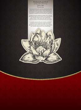 Banner for restaurant menu with lotus flower - vector #135278 gratis