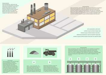 Detail infographic of factory production - vector gratuit #135298