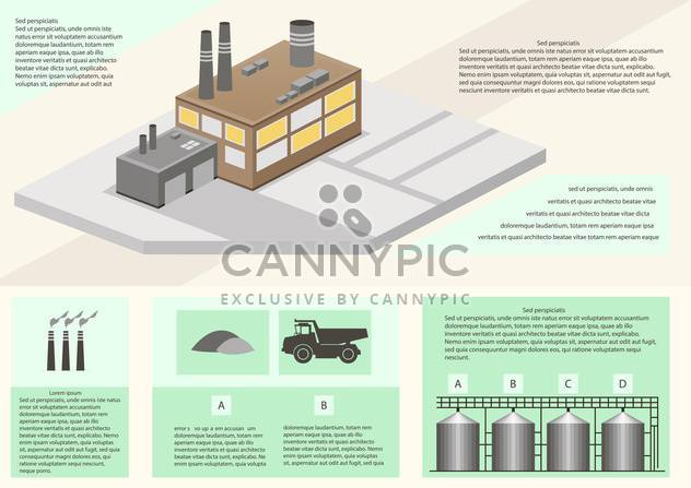 Detail infographic of factory production - Free vector #135298