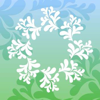 Vector illustration of beautiful natural floral background - Free vector #125748