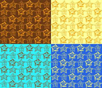 Vector illustration of colorful background with different types of stars - vector #125788 gratis