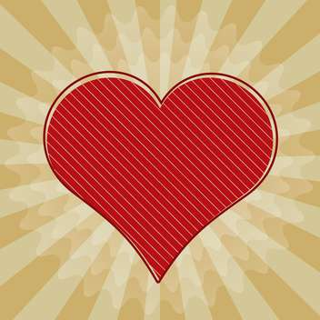 Vector illustration of valentine background with red heart - vector gratuit #125818