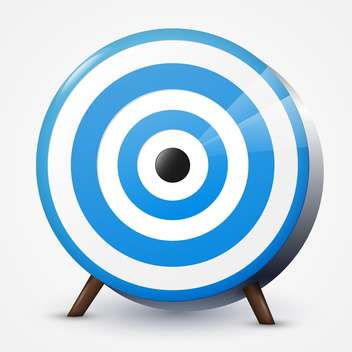 Vector illustration of round blue target on white background - vector gratuit #125828