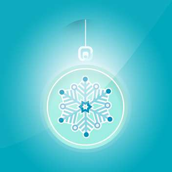 Vector illustration of Christmas ball with snowflake on blue background - vector gratuit #125868