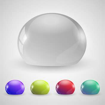 Vector set of colorful drops on white background - vector gratuit #125938