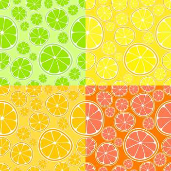 Vector background with fresh colorful citrus - vector gratuit #125988