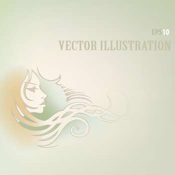 Vector background with woman face and text place - vector gratuit #126028