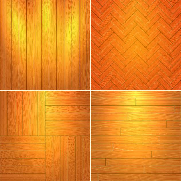 Vector illustration set of brown wooden textures - vector gratuit #126048