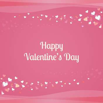 Vector pink background with hearts for Valentine's day - vector gratuit #126088