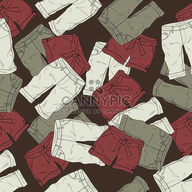 Vector background with different fashion shorts - Free vector #126118