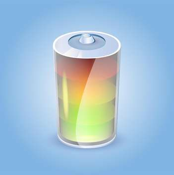 battery charge status vector illustration on blue background - vector gratuit #126138