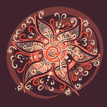 Vector illustration of with beauty flower on brown background - Free vector #126258