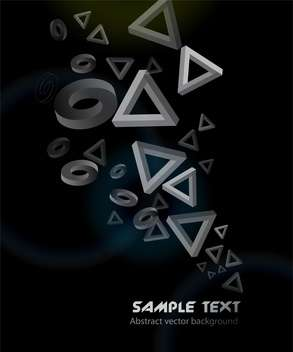 Abstract geometric black background with triangles and circles - vector #126318 gratis