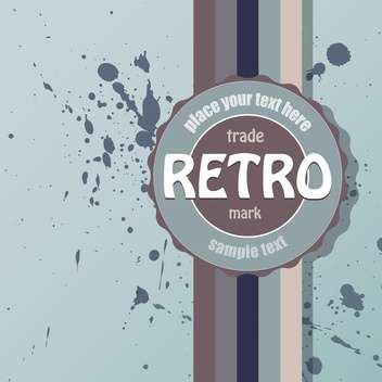 Vector colorful retro background with spray paint signs - Free vector #126388