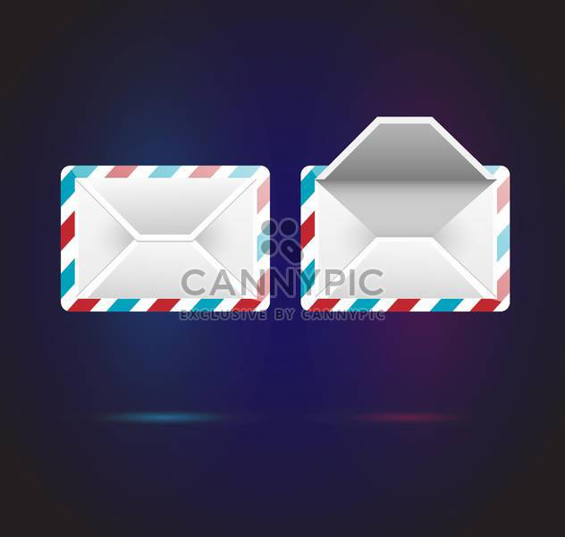 Vector mail icons on dark blue background - Kostenloses vector #126418
