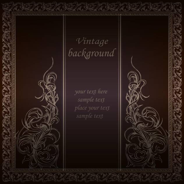 Vector vintage floral background with text place - vector gratuit #126478