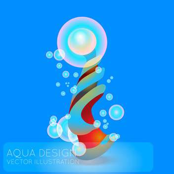 Colorful illustration of abstract blue background with bubbles - vector gratuit #126508
