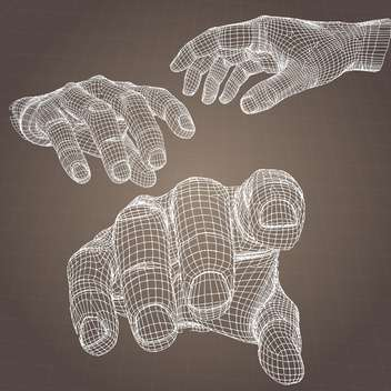 vector model of human hands on brown background - vector gratuit #126558