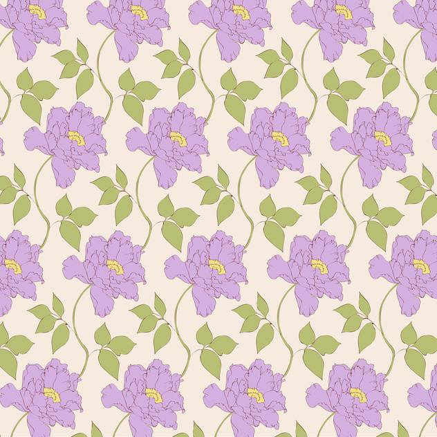 Vector vintage background with floral pattern - vector gratuit #126598