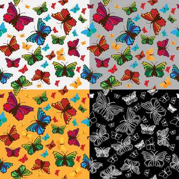 colorful illustration of beautiful butterflies background - vector gratuit #126628