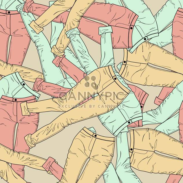 Vector colorful background with fashion pants - Free vector #126638